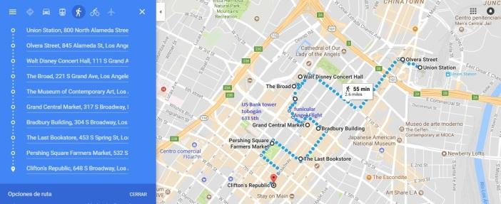 Ruta Downtown mañana
